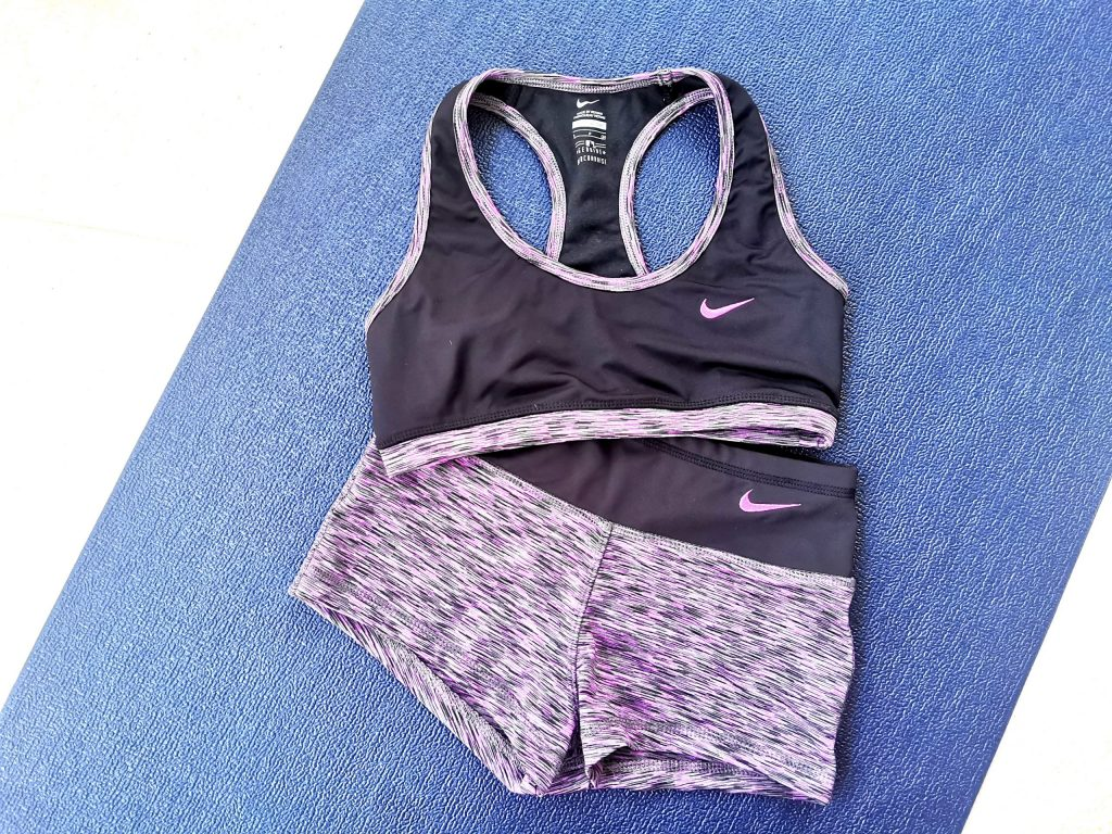 Nike bralette and shorts set